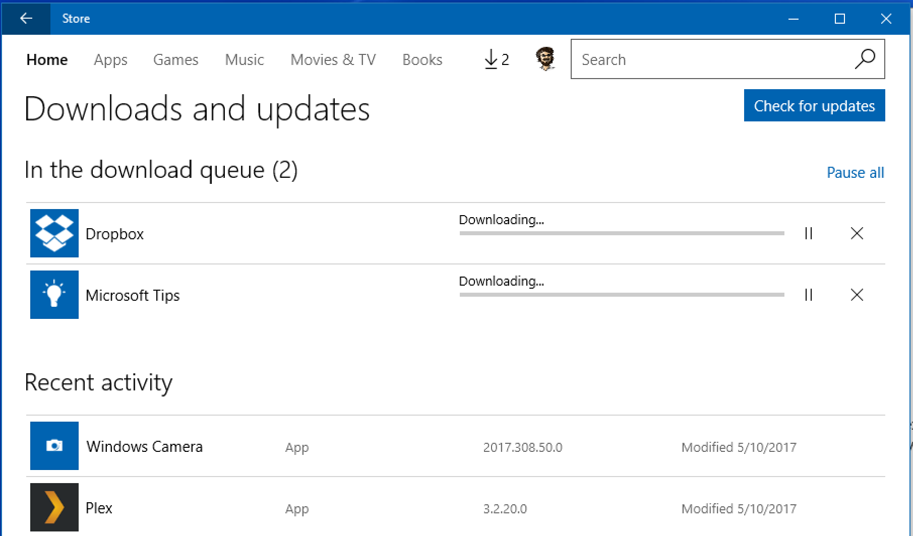 windows store downloads updates, app update, win10