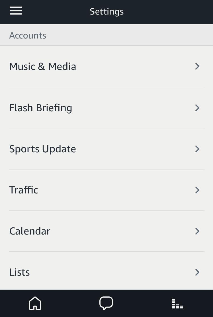 amazon alexa app settings
