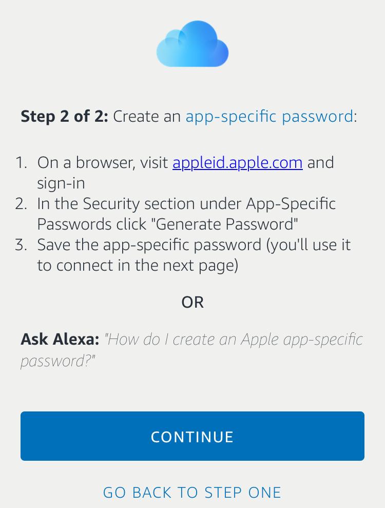temporary password, icloud alexa
