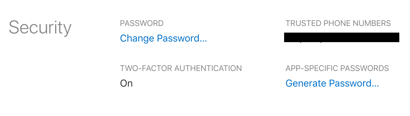 sign in icloud settings preferences security