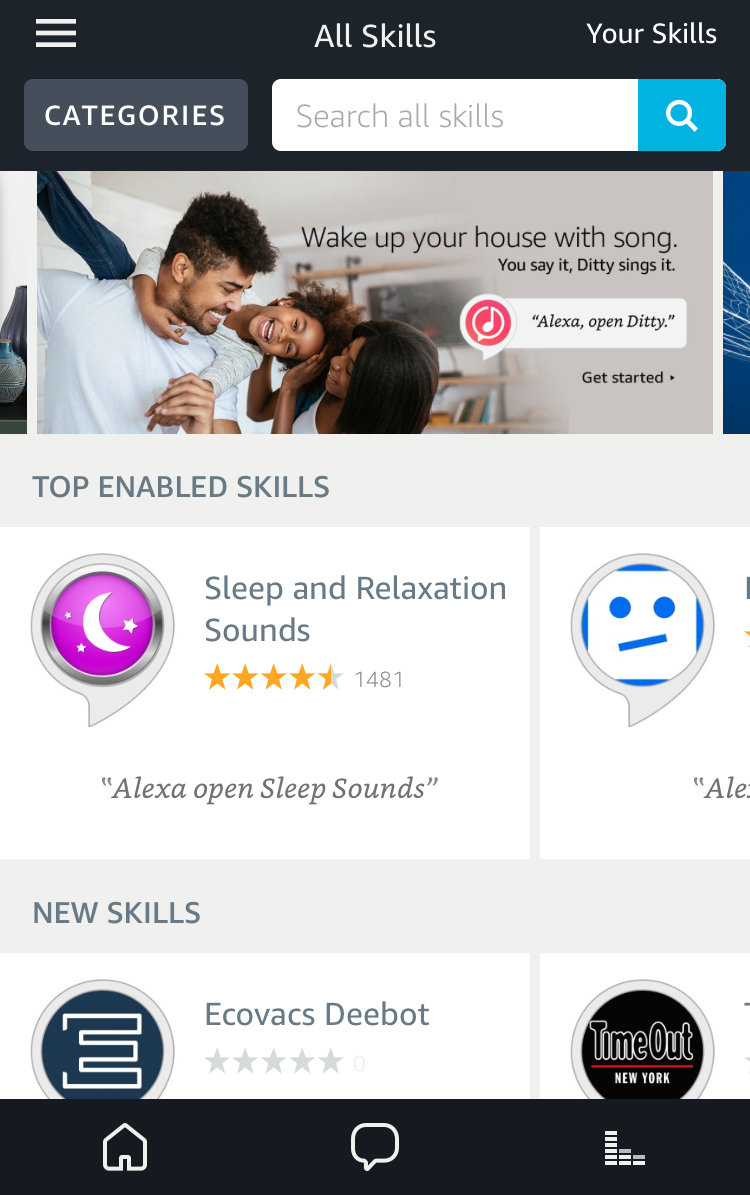 amazon alexa app skills area