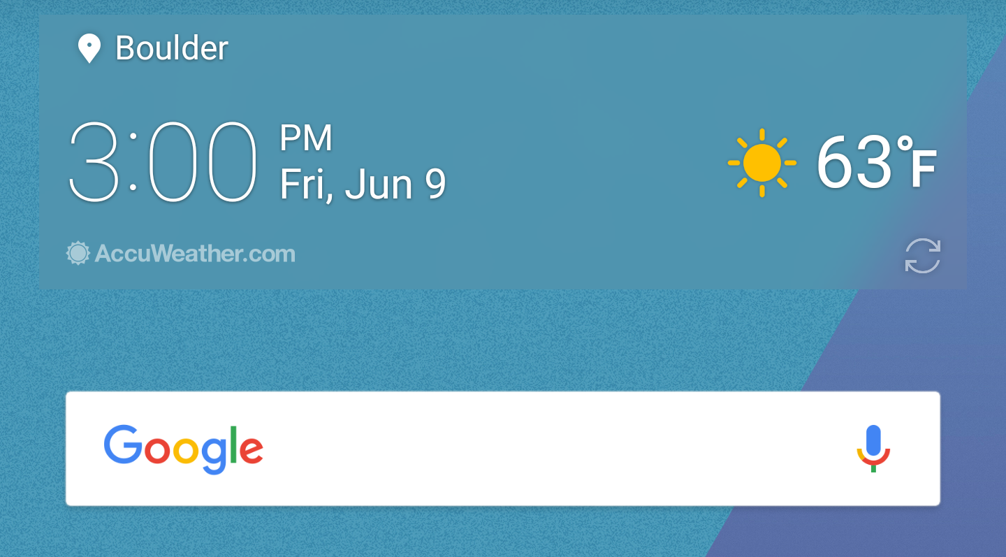Accuweather android app not updating