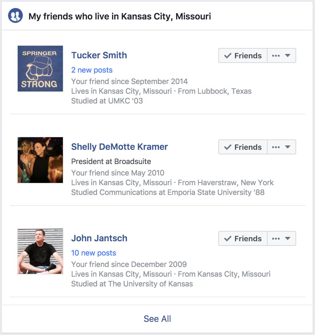 facebook friends in kc kansas city