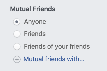 find facebook friends of friends in specific city area
