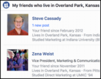 find facebook friends near a location city area kansas city