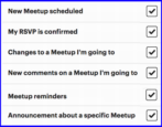 too many email notifications, meetup.com meetup groups