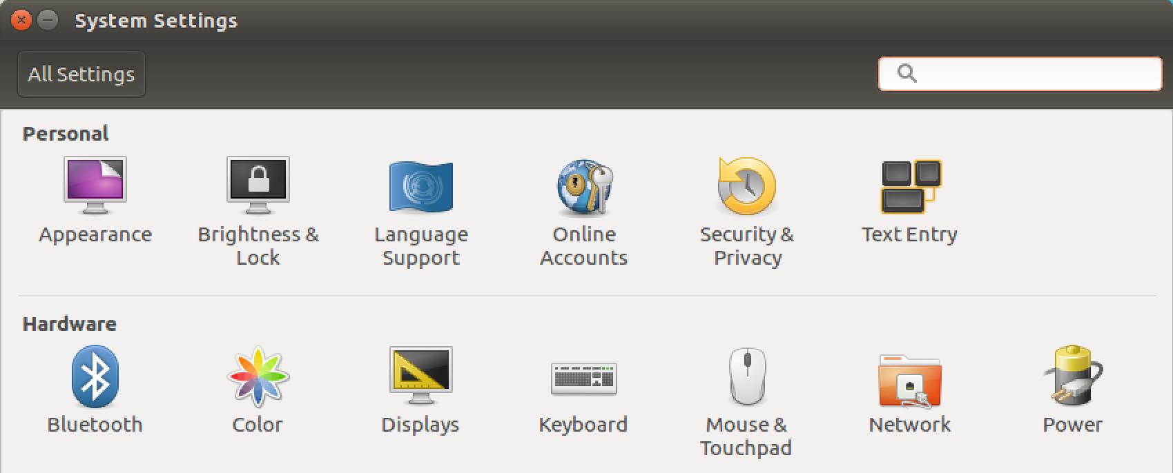 ubuntu linux settings preferences