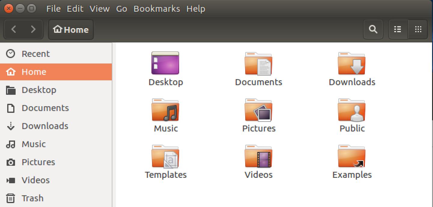 ubuntu linux program with menu items in title bar
