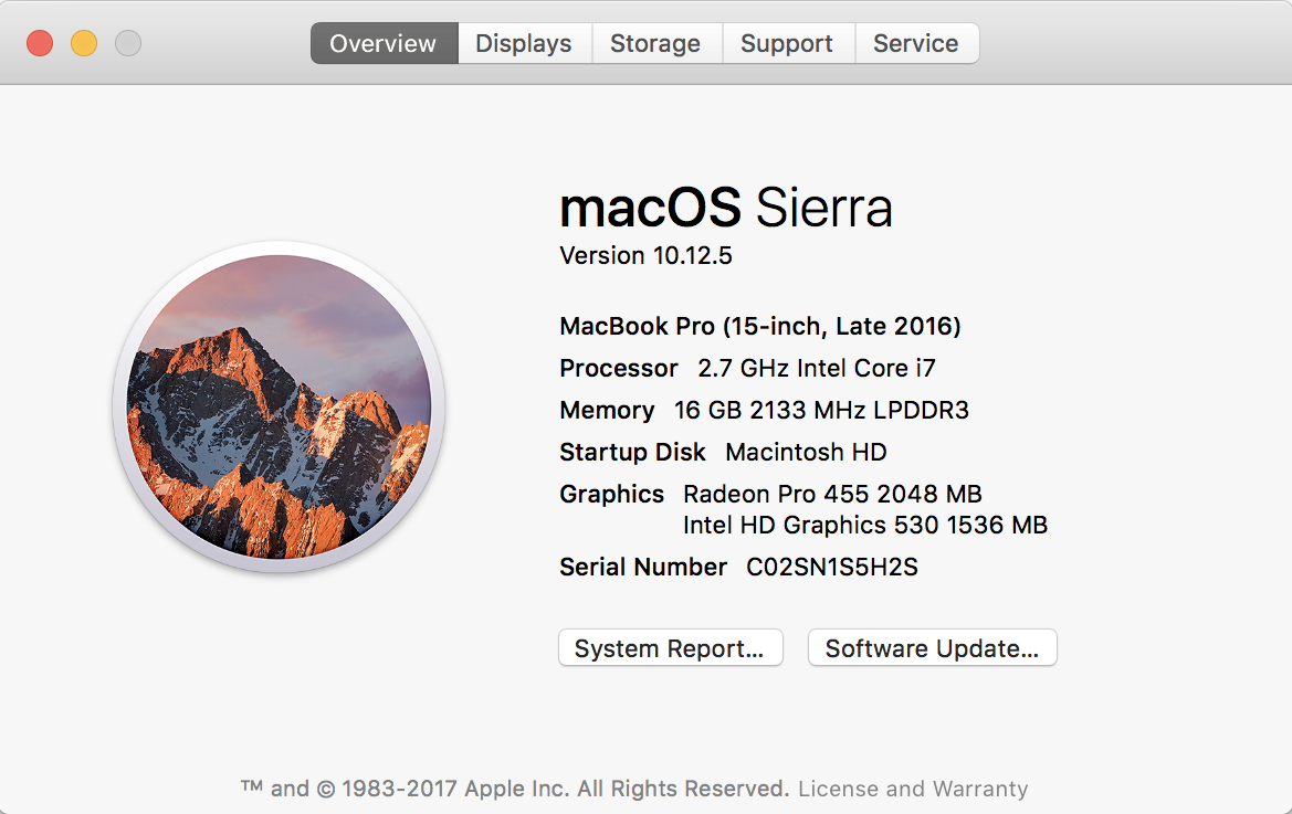 about this mac macos x sierra