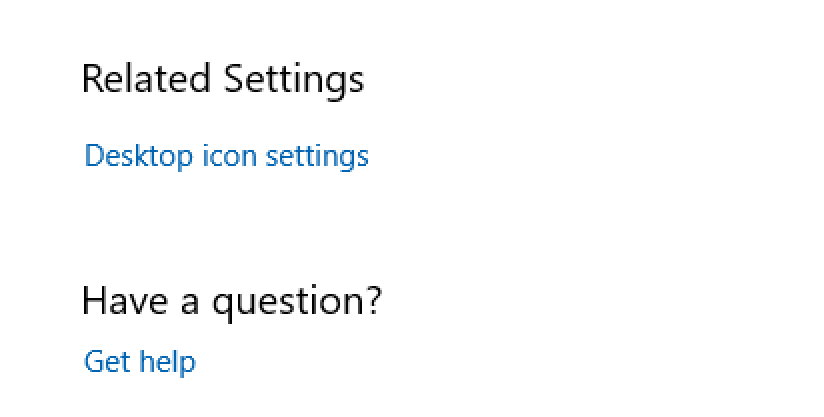 win10 related settings