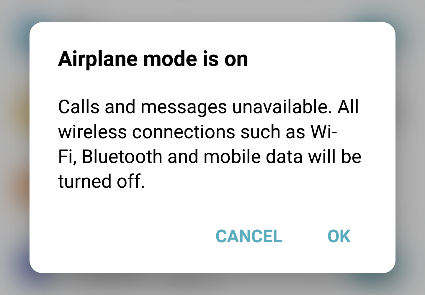How to change airplane mode on android
