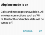 android samsung lg airplane mode faa