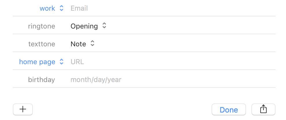 add birthday apple contacts address book mac os x