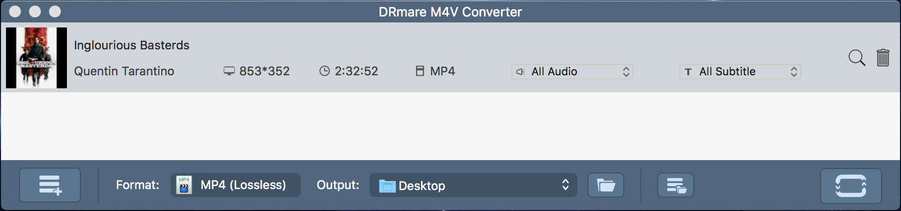 drmare m4v converter - ready to convert inglorious basterds