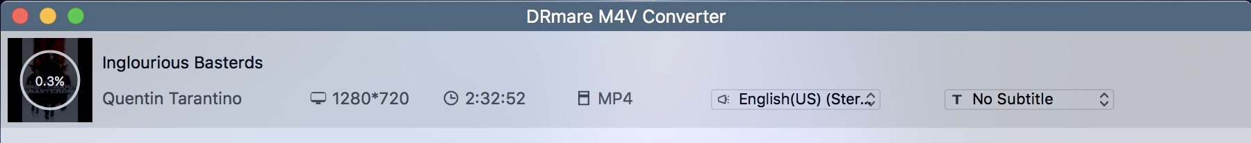 drmare m4v converter - converting file mp4