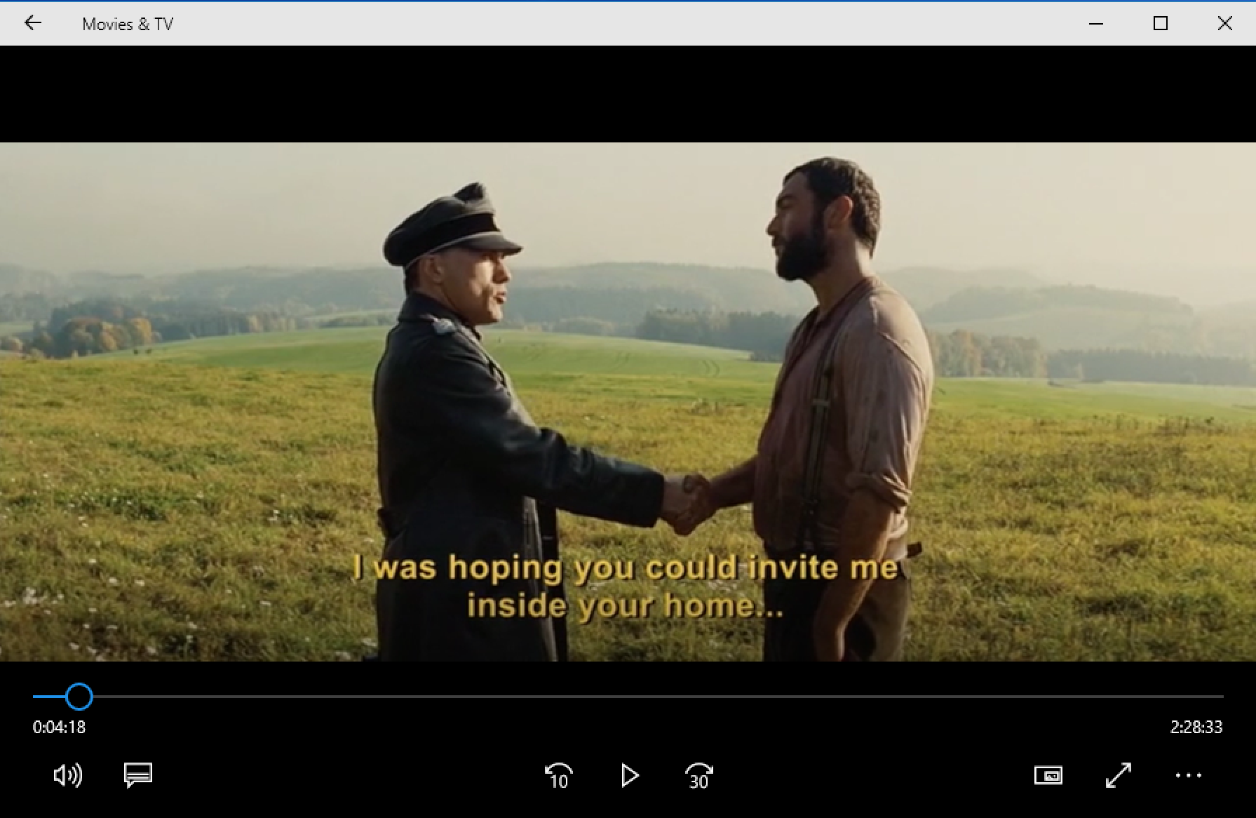 opening frame, inglorious basterds movie, windows win10