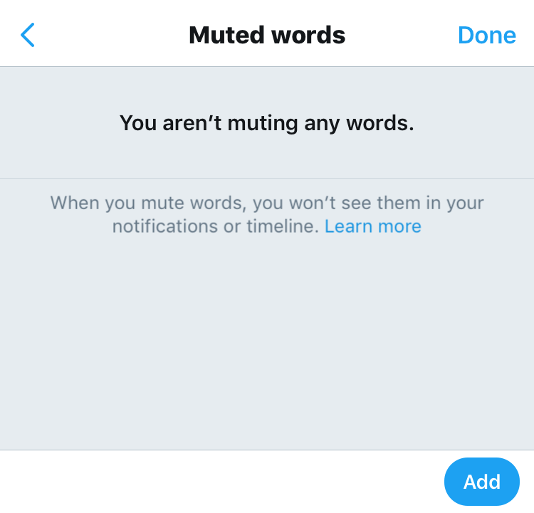 twitter muted words