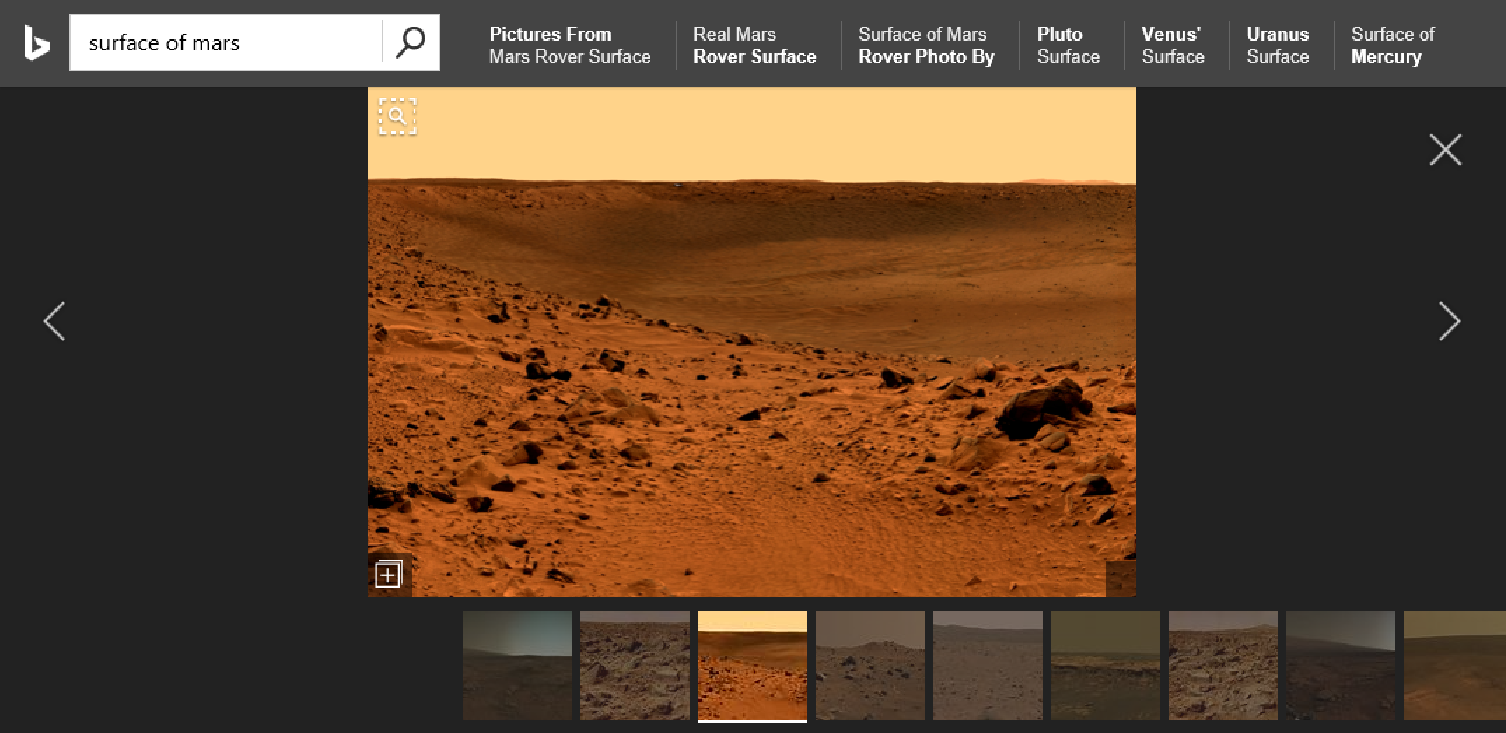 Bing Image Search Close Up On The Nasa Surface Of Mars