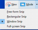 use snipping tool windows win10 screen capture grab delayed timer