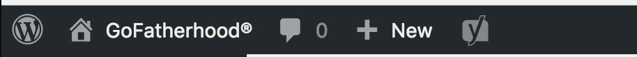 wordpress tool bar, no updates