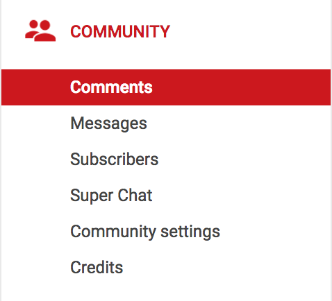 youtube creator studio - community