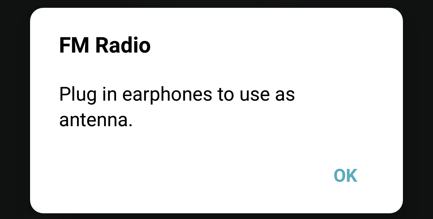 use headphones as antenna - fm radio - android
