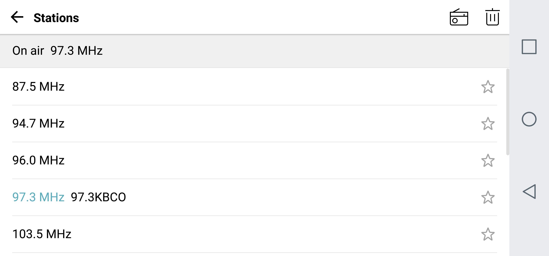 android fm radio - stations list