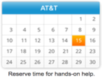 at&t store wireless cellular how to make schedule appointment online
