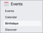 wish people happy birthday calendar events facebook friends
