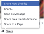 how to share post facebook