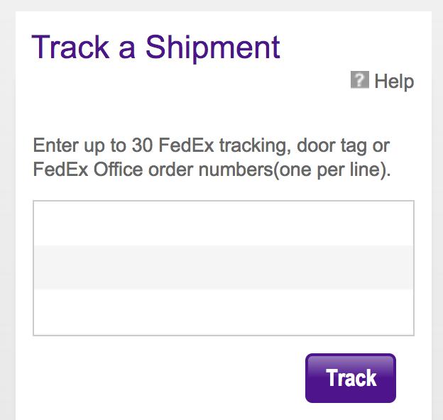 fedex track a shipment
