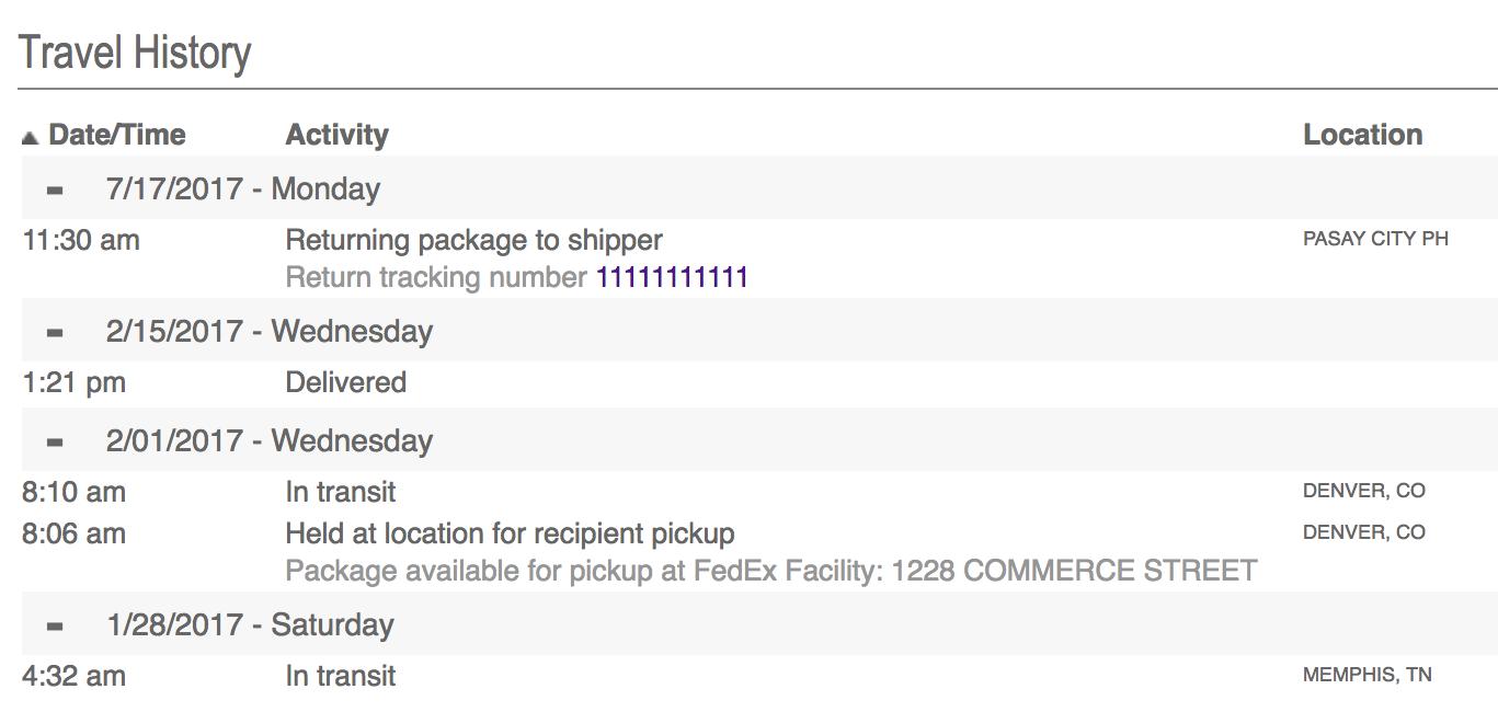 transit - fedex delivery