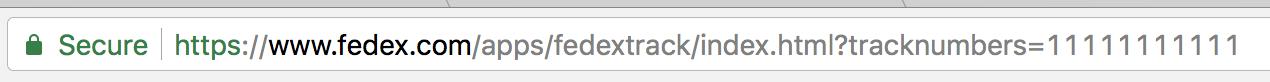fedex tracking number url
