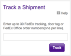 implement fedex tracking search box web page site html