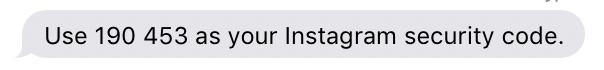 instagram login security authentication secret code number