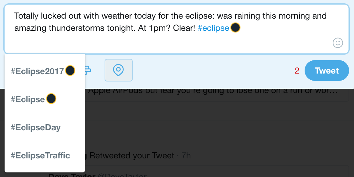 #eclipse hashtag, twitter
