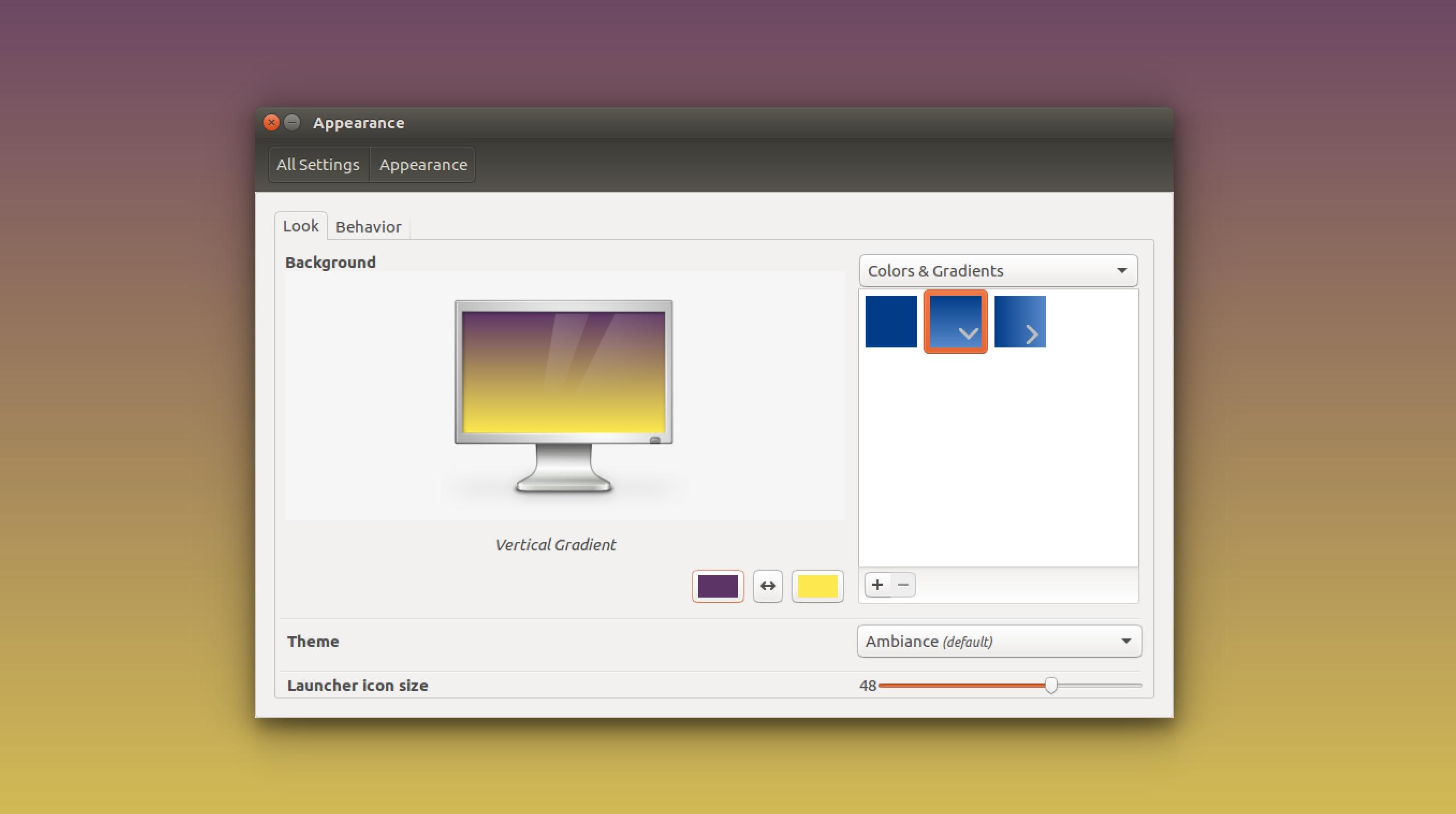 linux purple yellow gradient