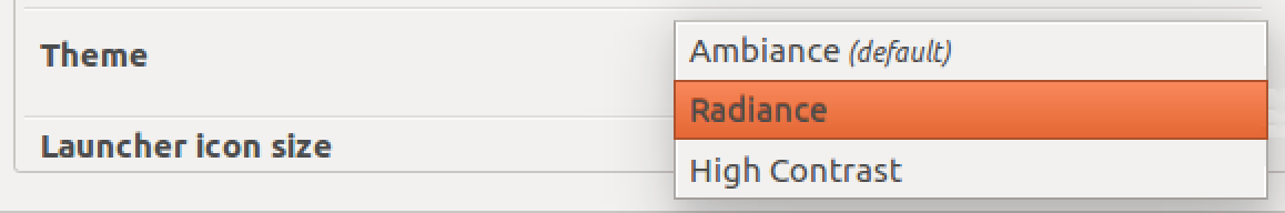 choose theme, ubuntu linux