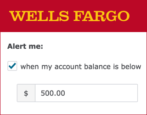 wells fargo banking account alerts notifications