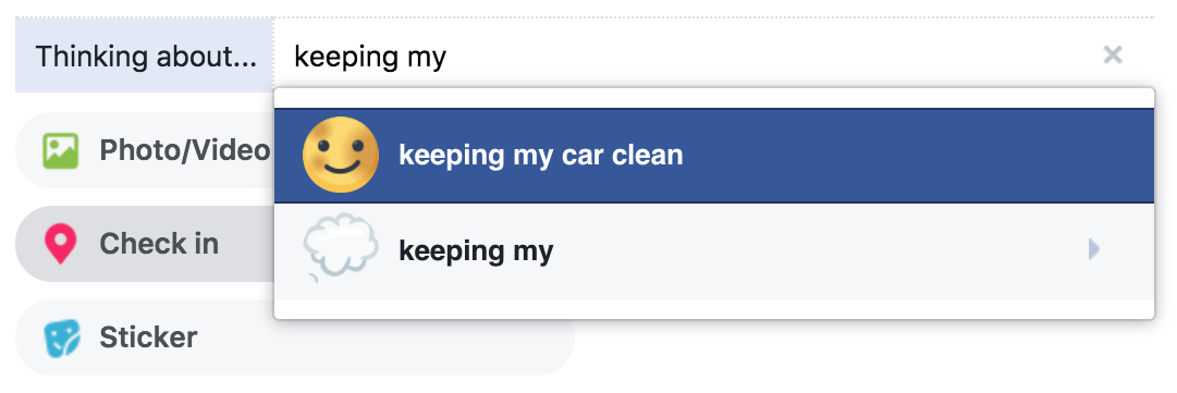 facebook emotion emoji keeping car clean
