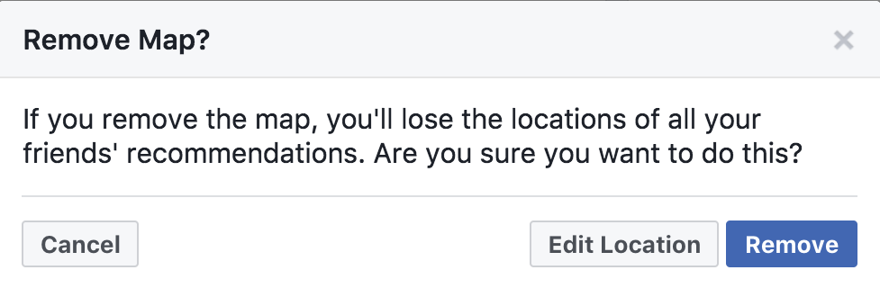 delete map? facebook