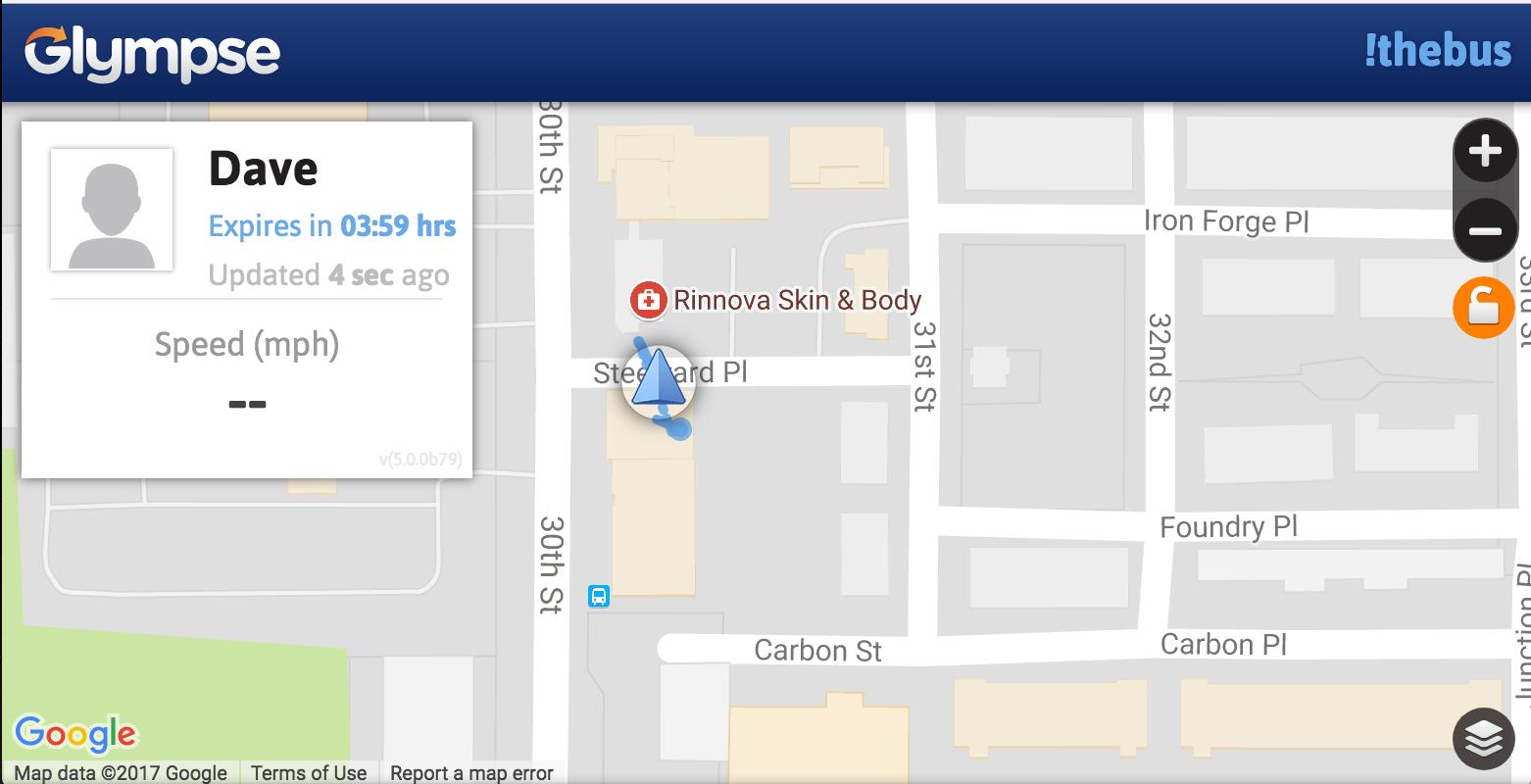 share public tag glympse location address geolocation