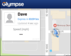 glympse share location with group public tag glympse