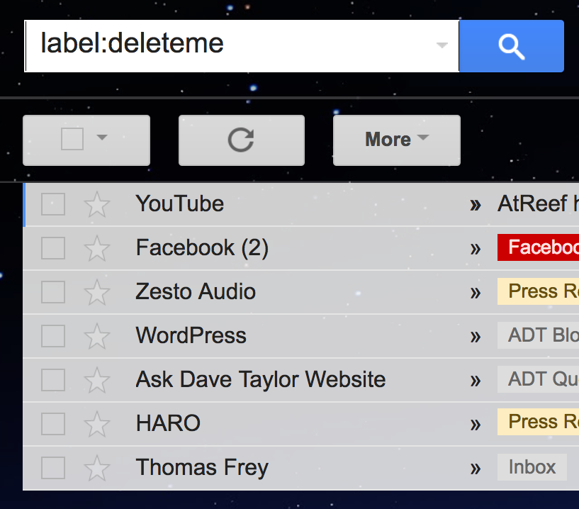 How to remove inbox label in gmail