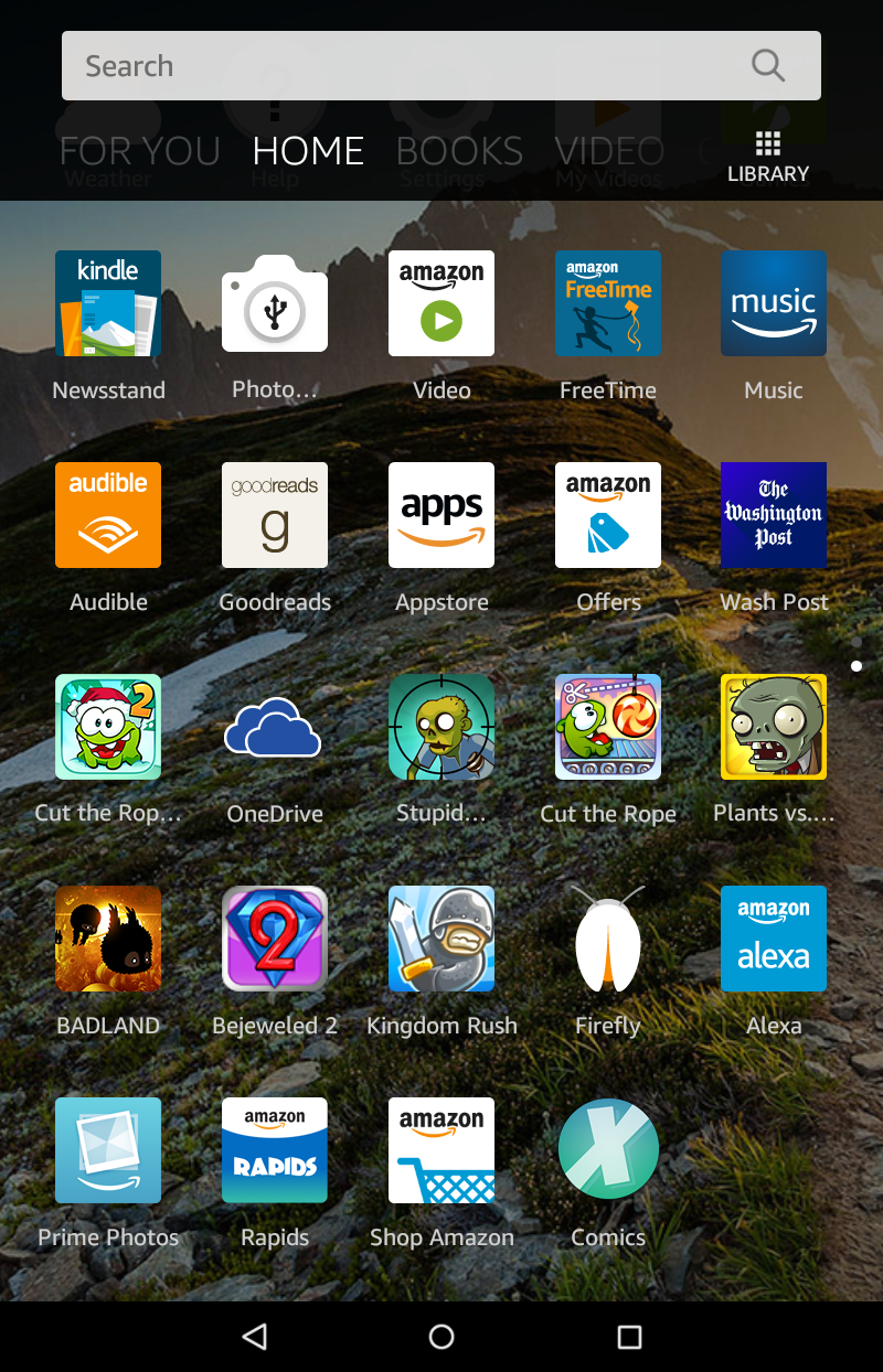 amazon kindle fire hd - app screen