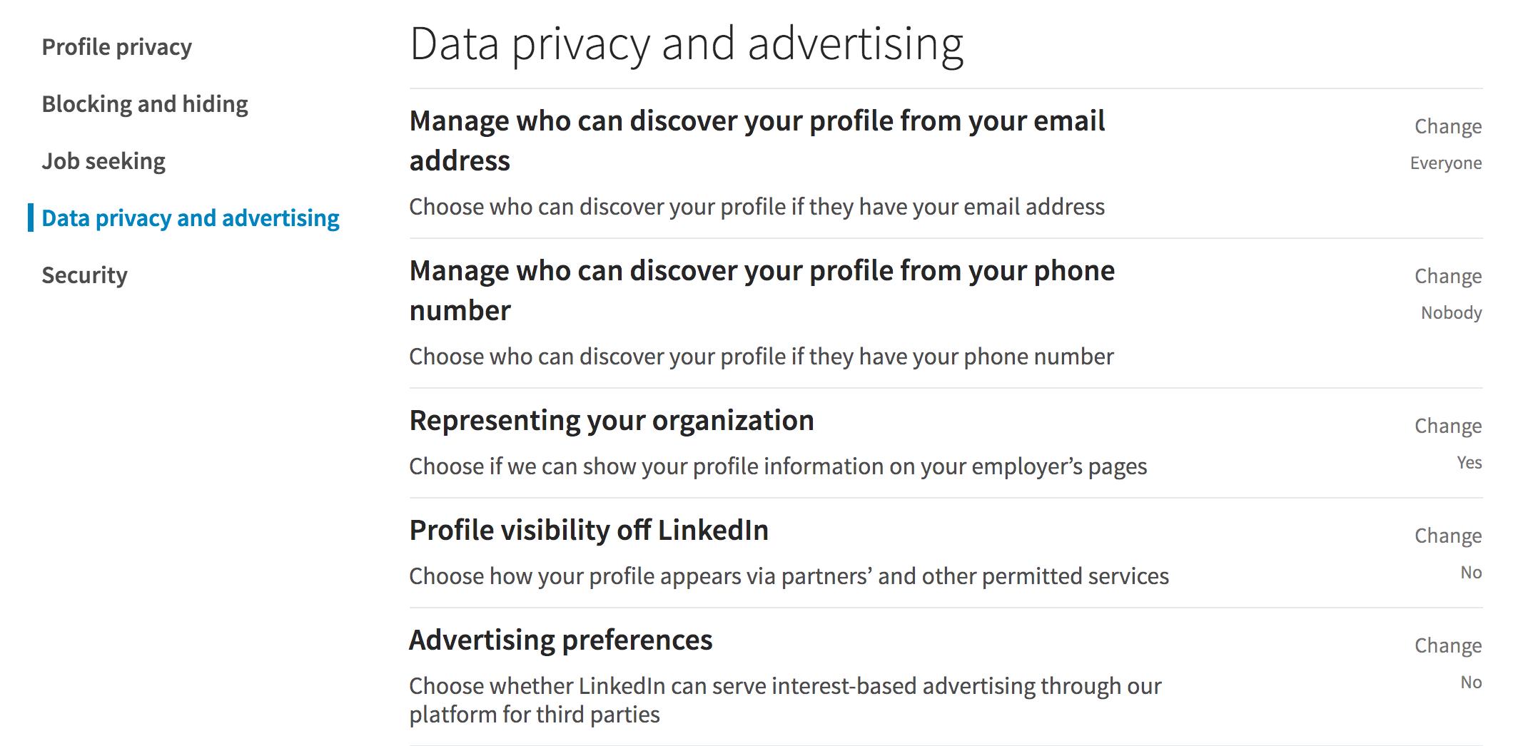linkedin data privacy advertising