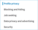 privacy third party ad tracking linkedin settings preferences