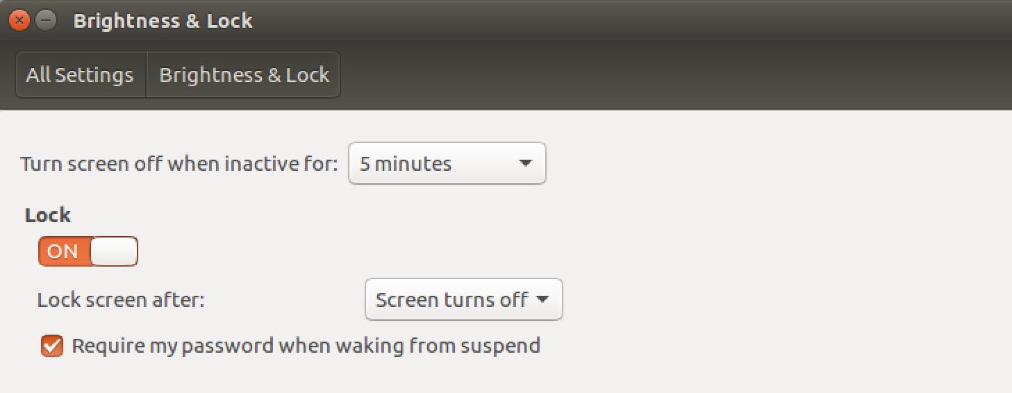 ubuntu linux brightness lock