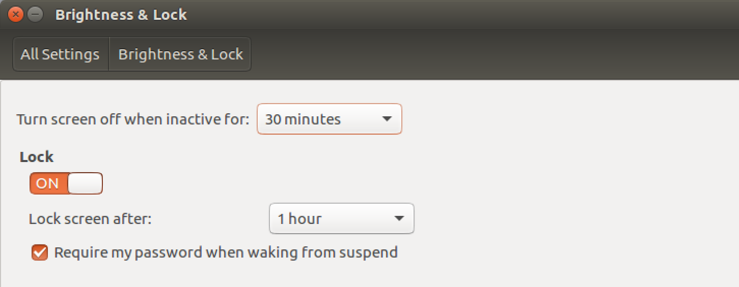 ubuntu linux turn off display