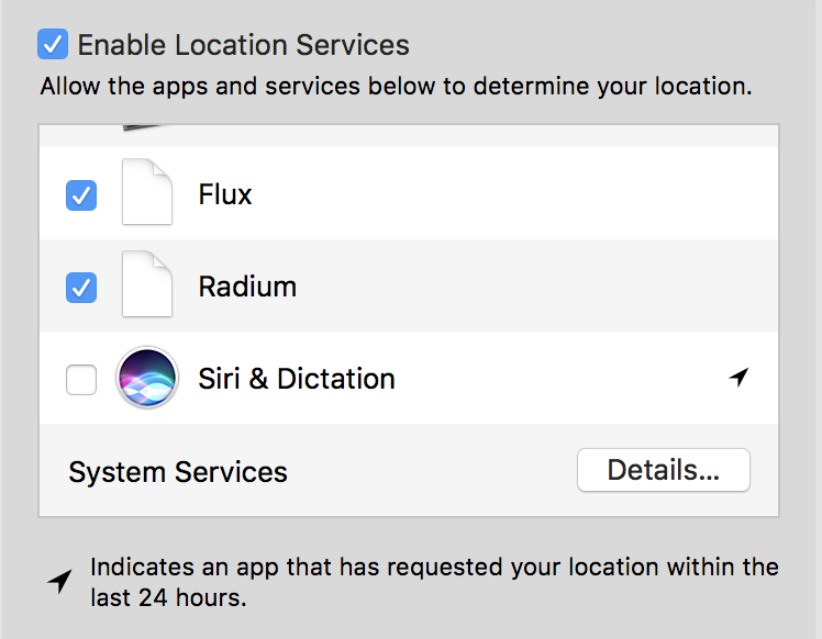 enable siri location privacy